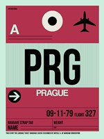 PRG Prague Luggage Tag 2 Fine Art Print