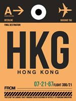HKG Hog Kong Luggage Tag 2 Fine Art Print