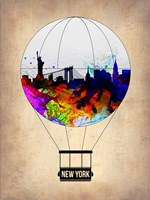 New York Air Balloon Fine Art Print