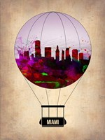 Miami Air Balloon 2 Fine Art Print
