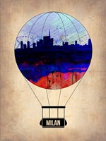 Milan Air Balloon Fine Art Print