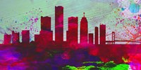 Detroit City Skyline Fine Art Print