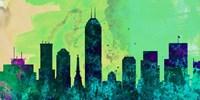 Indianapolis City Skyline Fine Art Print