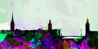 Stockholm City Skyline Fine Art Print