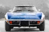 1972 Corvette Front End Fine Art Print