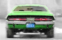 Dodge Challenger Rear Fine Art Print