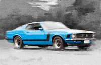 1970 Ford Mustang Boss Blue Fine Art Print