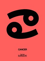 Cancer Zodiac Sign Black Fine Art Print