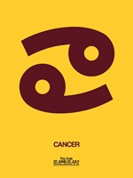 Cancer Zodiac Sign Brown Fine Art Print