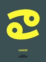Cancer Zodiac Sign Yellow Fine Art Print