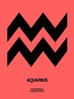 Aquarius Zodiac Sign Black Fine Art Print
