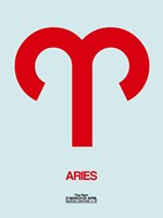 Aries Zodiac Sign Red Fine Art Print