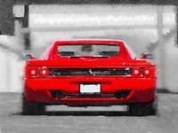Ferrari F512 Rear Fine Art Print