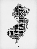 New Jersey Word Cloud 2 Fine Art Print