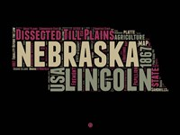 Nebraska Word Cloud 1 Fine Art Print