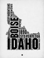 Idaho Word Cloud 2 Fine Art Print