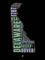 Delaware Word Cloud 1 Fine Art Print