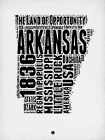 Arkansas Word Cloud 2 Fine Art Print