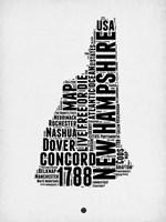 New Hampshire Word Cloud 2 Fine Art Print