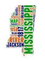 Mississippi Word Cloud Map Fine Art Print