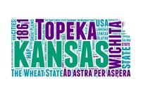 Kansas Word Cloud Map Fine Art Print