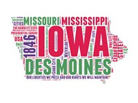 Iowa Word Cloud Map Fine Art Print