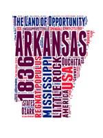 Arkansas Word Cloud Map Fine Art Print