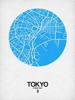 Tokyo Street Map Blue Fine Art Print