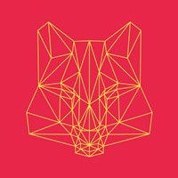 Fox on Red Fine Art Print