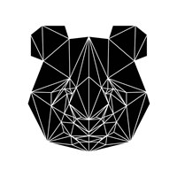 Black Panda Fine Art Print