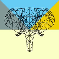 Party Elephant Polygon Fine Art Print