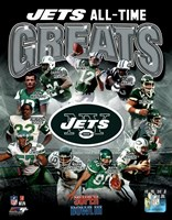 New York Jets All Time Greats Composite Framed Print