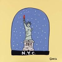 N.Y.C. Snow Globe Fine Art Print