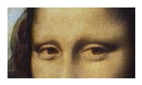 Mona Lisa - Detail Of Eyes Fine Art Print