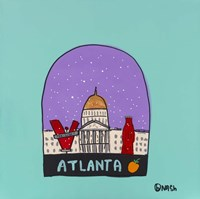 Atlanta Snow Globe Fine Art Print