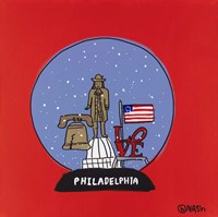 Philadelphia Snow Globe Fine Art Print