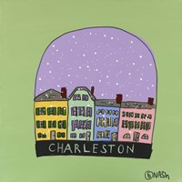 Charleston Snow Globe Fine Art Print