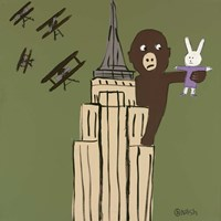 LaLa and King Kong Fine Art Print