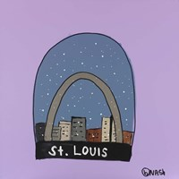 St. Louis Snow Globe Fine Art Print