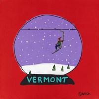 Vermont Snow Globe Fine Art Print