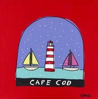 Cape Cod Snow Globe Fine Art Print