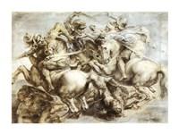 The Battle of Anghiari after Leonardo da Vinci Fine Art Print