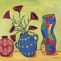 Three Vases Fine Art Print