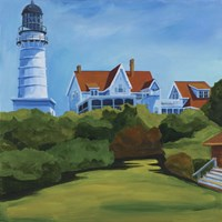 House At Two Lights Fine Art Print