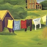 Laundry Monhegan Fine Art Print
