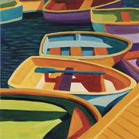 So Freeport Dinghies Fine Art Print