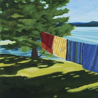 Towels At Tracy's Camp Fine Art Print