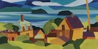 View Of Stonington Harbor Fine Art Print