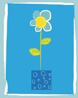 Blue Flower in Blue Pot Fine Art Print