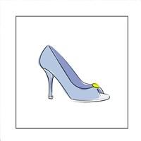 Blue High Heel Shoe Fine Art Print